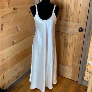 Vintage Christian Dior monogram white gown Small